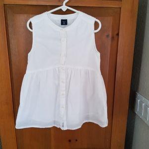 EUC Gap Girls White Tunic/Top 6/7